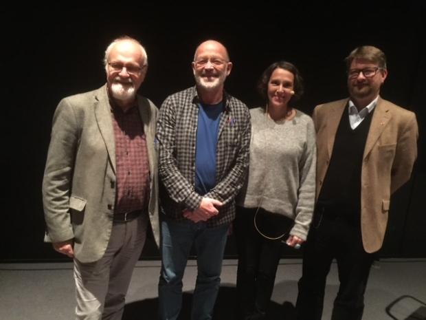 F.v. Jan Inge Sørbø, Erling Sørli, Grethe Fatima Syéd og Jørn Øyrehagen Sunde.  Foto: Birger Bolstad.