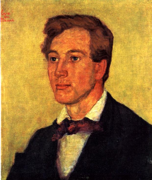 Mimi Falsens portrett av Olav Sletto, 1909.