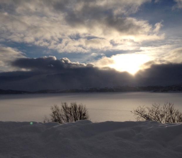 Uvêr i Skarvet. Foto: E. Almhjell